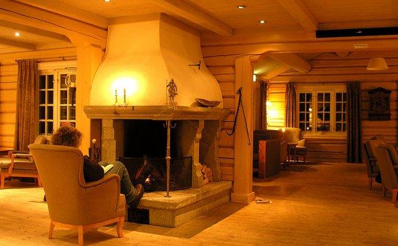 Интерьер дома норвежской рубки