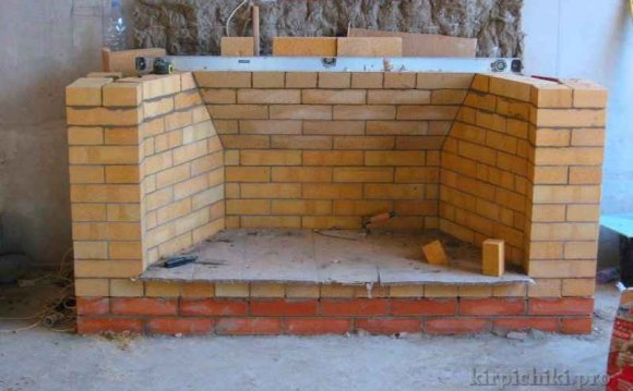 Строительство зуба камина